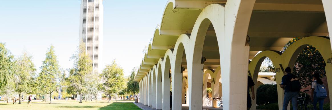Riverside archway
